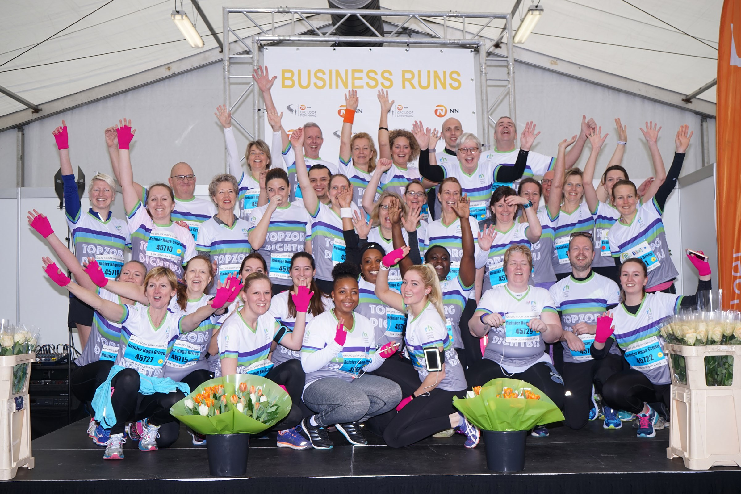 Meet 4.000 Business Runners in the Business Paviljoen